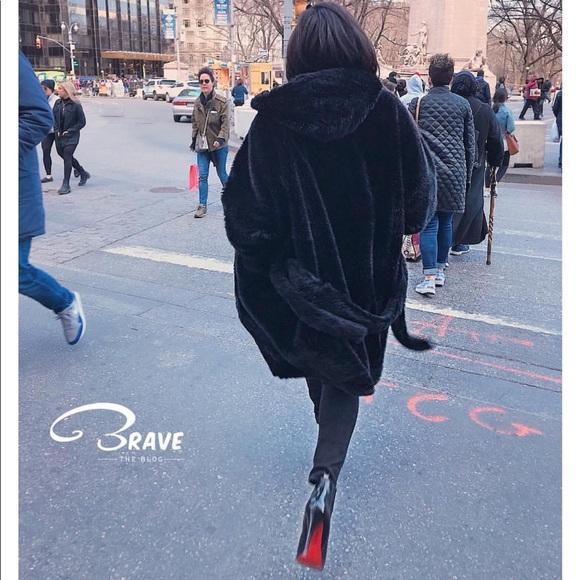Acne Jackets & Blazers - Acne Studios Faux Fur Hooded Oversized Coat